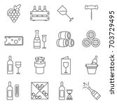 simple set of wine related... | Shutterstock .eps vector #703729495