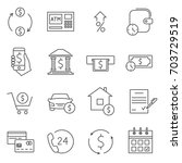 simple set of credit related... | Shutterstock .eps vector #703729519