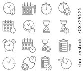 simple set of time management... | Shutterstock .eps vector #703729525