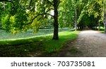 the decksteiner weiher is an... | Shutterstock . vector #703735081