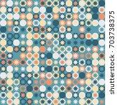 geometric pattern design  | Shutterstock .eps vector #703738375