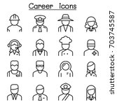 career  occupation  profession... | Shutterstock .eps vector #703745587
