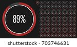 set of circle percentage...   Shutterstock .eps vector #703746631