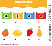educational children game.... | Shutterstock .eps vector #703748341