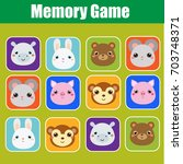 memory game for toddlers.... | Shutterstock .eps vector #703748371