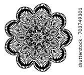 mandalas for coloring book....   Shutterstock .eps vector #703749301