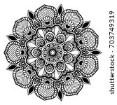 mandalas for coloring book.... | Shutterstock .eps vector #703749319