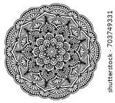 mandalas for coloring book....   Shutterstock .eps vector #703749331