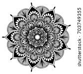 mandalas for coloring book.... | Shutterstock .eps vector #703749355
