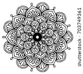 mandalas for coloring book.... | Shutterstock .eps vector #703749361
