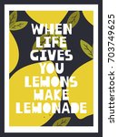 background with lemons and... | Shutterstock .eps vector #703749625