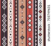 ethnic seamless pattern vector. ... | Shutterstock .eps vector #703749631