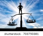 concept of selfishness and...   Shutterstock . vector #703750381
