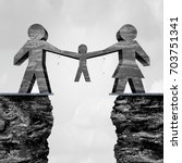 child custody and parents... | Shutterstock . vector #703751341