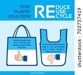 stop plastic pollution ban... | Shutterstock .eps vector #703757419