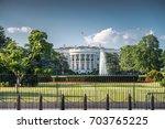 white house  washington dc  usa   Shutterstock . vector #703765225