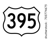 us route 395  filled with white | Shutterstock .eps vector #703774675