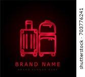 luggage red chromium metallic...