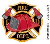 fire department cross symbol is ... | Shutterstock .eps vector #703778875