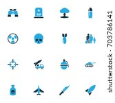 combat colorful icons set.... | Shutterstock .eps vector #703786141