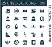 religion icons set. collection... | Shutterstock .eps vector #703787485