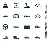 auto icons set. collection of... | Shutterstock .eps vector #703788061