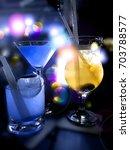 party drinks | Shutterstock . vector #703788577