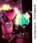 party drinks | Shutterstock . vector #703788649