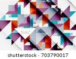 triangle pattern design... | Shutterstock . vector #703790017