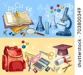 education. back to school... | Shutterstock .eps vector #703800349