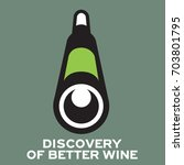 logo icon discovery wine... | Shutterstock .eps vector #703801795