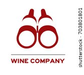 logo icon discovery wine... | Shutterstock .eps vector #703801801