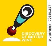 logo icon discovery wine... | Shutterstock .eps vector #703801837
