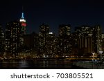 new york city skyline from east ... | Shutterstock . vector #703805521