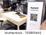 qr code payment   online... | Shutterstock . vector #703805641