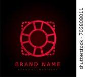 help red chromium metallic logo