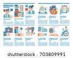 medical infographics  medical... | Shutterstock .eps vector #703809991