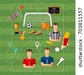 soccer  football team  signs... | Shutterstock .eps vector #703811557