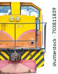 yellow train | Shutterstock . vector #703811839