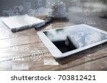 internet  business and... | Shutterstock . vector #703812421