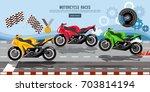 motorcycle races banner ... | Shutterstock .eps vector #703814194