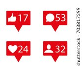 like  follower  comment icons.... | Shutterstock .eps vector #703817299