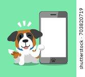 cartoon character saint bernard ... | Shutterstock .eps vector #703820719
