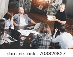 group of creative project... | Shutterstock . vector #703820827