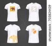 original print for t shirt. t... | Shutterstock . vector #703824439