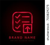 list red chromium metallic logo
