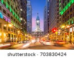 philadelphia streets with...   Shutterstock . vector #703830424