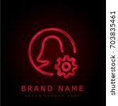user red chromium metallic logo