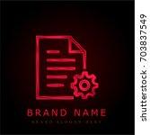 file red chromium metallic logo