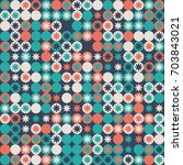 geometric pattern design  | Shutterstock .eps vector #703843021
